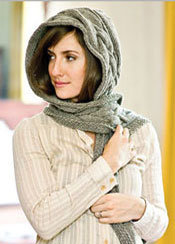 Potter Craft Hooded Scarf - Vogue Knitting