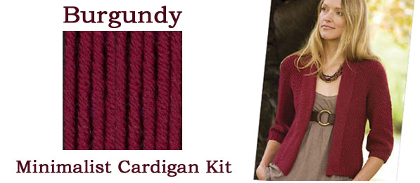 burgundy minimalist cardigan kit