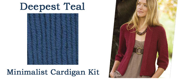 deepest teal minimalist cardigan kit