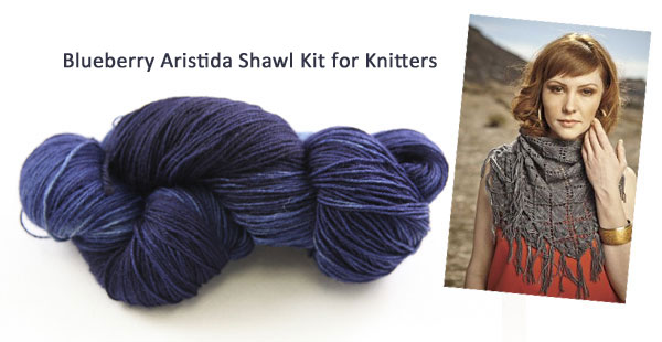 blueberry aristida shawl kit