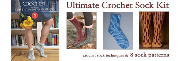 crochet sock kit