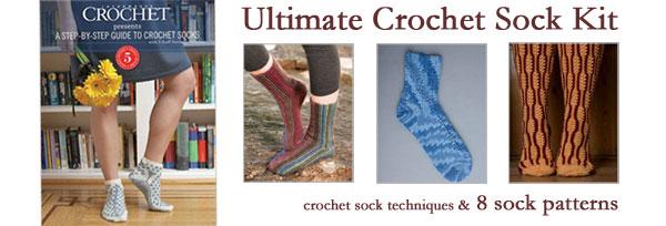 crochet sock kit