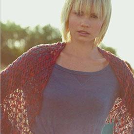 fleur de lis shawl