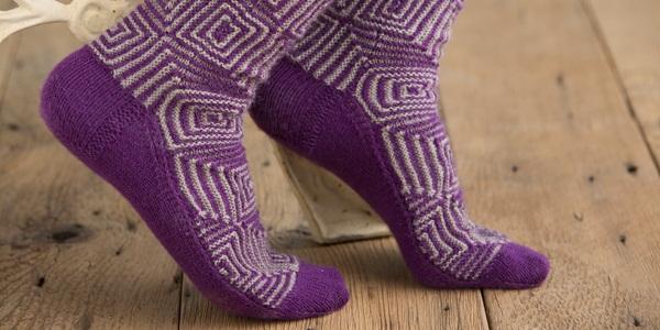 op art socks