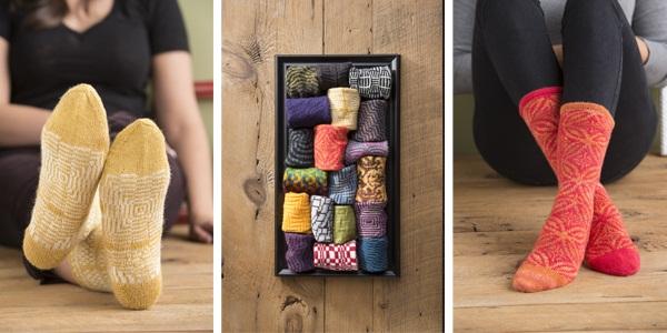 op art socks projects