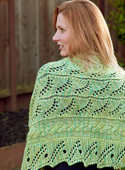 tanis gray lace shawl