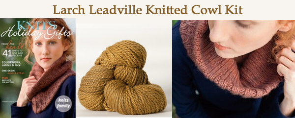 larch leadville knitted cowl