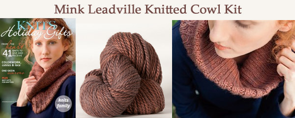mink leadville knitted cowl kit