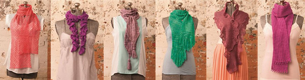 one skein scarves