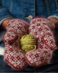 tapestry mittens