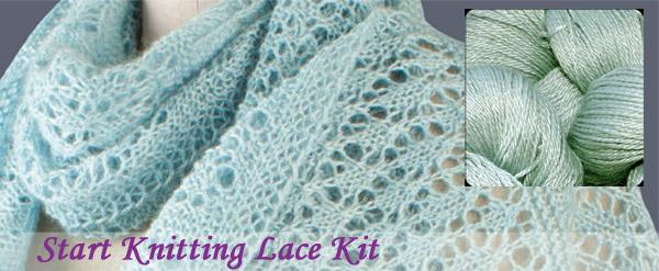 start knitting lace kit