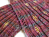 knit with beads scarf