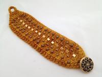 knit with beads bracelet