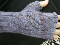 knit with beads mitts