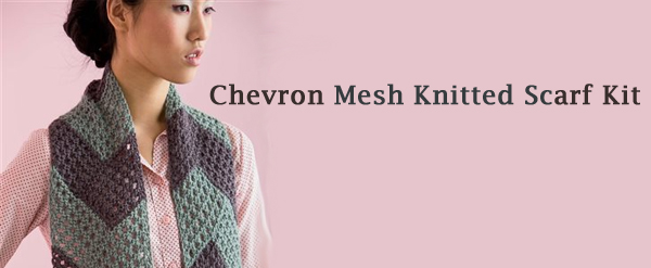 chevron mesh scarf kit