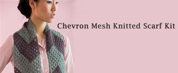 chevron mesh scarf kit