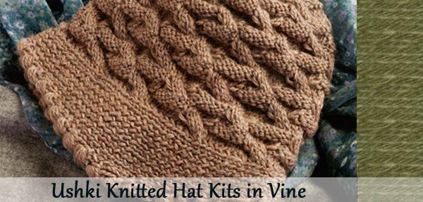 ushki knitted hat kit in vine