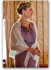 The Lacy Triangular Knitted Shawl Pattern