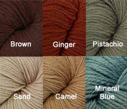 Yarn included in the Like Water For Chocolate Crocheted Afghan Kit