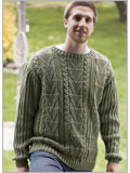 Men's cable knit sweater: Galway Guy