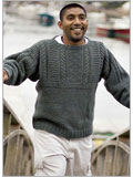 Fisherman knit sweater: Old Way Gansey