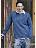 Knitting patterns for men's sweaters: Braided Blues
