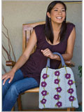 Bag and Crochet Flowers Pattern: Flower And Vines Bag
