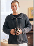Men's knitting patterns: Echo Lake Cardigan