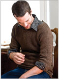 Sweater patterns for men: Woven Bands Pullover