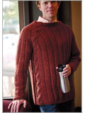 Men's cable knit sweater: Shredder Pullover