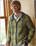 Men's sweater knitting patterns: Peavey Jacket