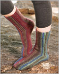 Crochet Sock Patterns: Sydney's Sideways Socks