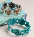 Для плетения браслеты нужно взять.  В данном украшении вам необходимо выполнить шестиугольники из бисера.