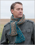 Men's knit scarf pattern: Raised Wale Scarf