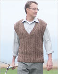 Vest knitting patterns for men: Veddy Vest