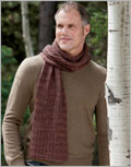 Men's knit scarf pattern: Lyle Muffler