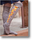 Intarsia Knitting Patterns: Art Deco Argyle Stockings