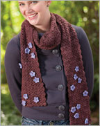 Crocheted Flowers and Scarf Pattern: Diana's Blossom Scarf