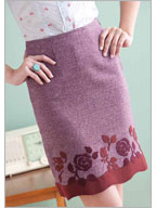 Sewing Patterns Skirts: Suede Appliqued Skirt