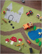Intarsia Crochet Patterns: Happy Day Playmat