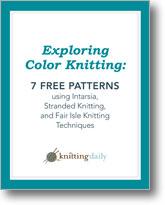 Exploring Color Knitting