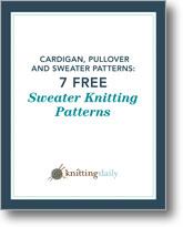 7 Free Sweater Knitting Patterns