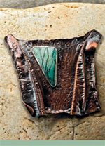 Fold Formed Bronze Brooch