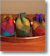 Entrelac Patterns: Felted Entrelac Fobs