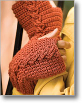 Crochet Cable Mitts