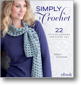 Find crochet Christmas ideas with the Simply Crochet book.