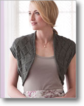 Entrelac Knitting Patterns: Cochin Shrug