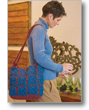 Overlay Felted Tote