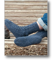 Braided Slipper Socks