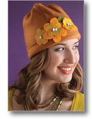 Flowering Fleece + Felt Hat